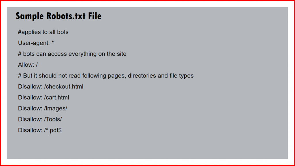 Sample Robots txt file for WordPress site SEO